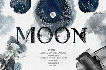 fhases MOON&#x3B; zodiac constellations