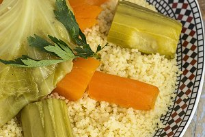 Moroccan couscous homemade