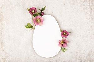 Easter egg on beige background