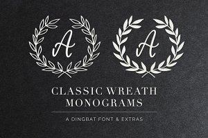 Wreath Monograms Dingbat Font