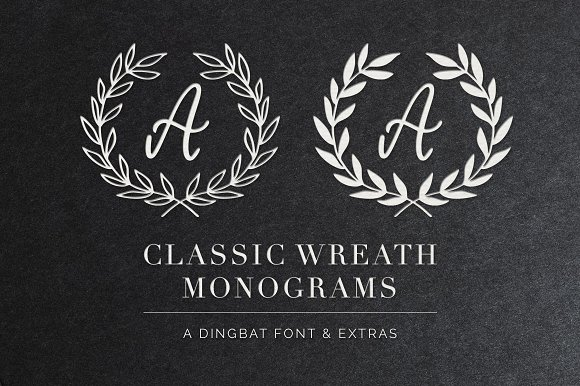 Wreath Monograms Dingbat Font