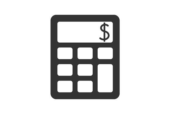 Calculator Black Icon