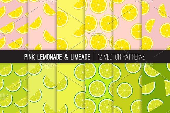 Vector Lemonade And Limeade Patterns