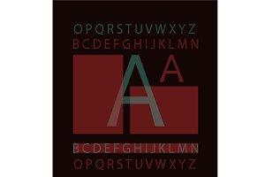 Modern layerd font vector