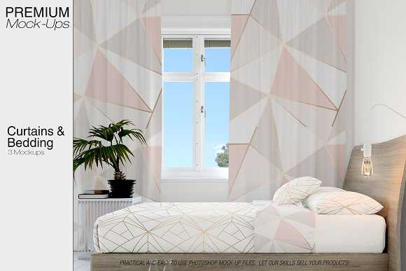 Curtains Bedding Set