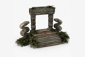 Ancient entrance jungle ruins