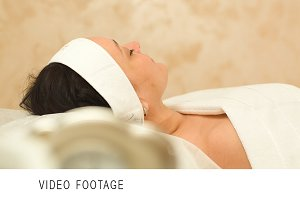 Massage therapy of womans face