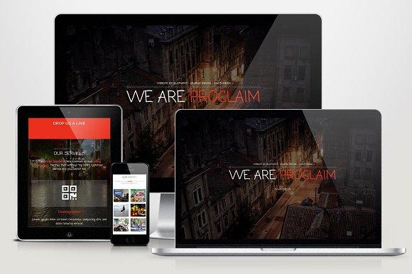 Proclaim HTML Portfolio