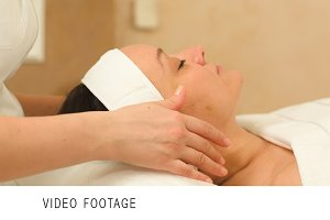 Professional facial massage beauty