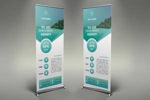 Summer Travel Roll Up Banner #125