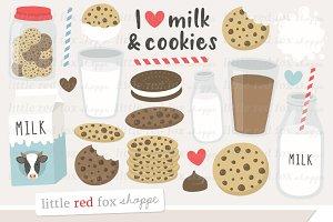 Milk & Cookies Clipart