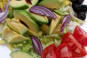 Fesh salad with vegetables