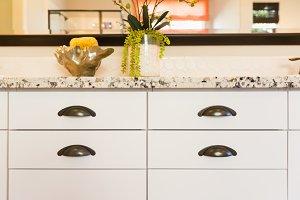 Bathroom Granite Counter & Drawers