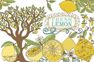Lemon ClipArt, Fresh Summer Fruit