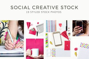 Colorful Creative Social Stock Photo