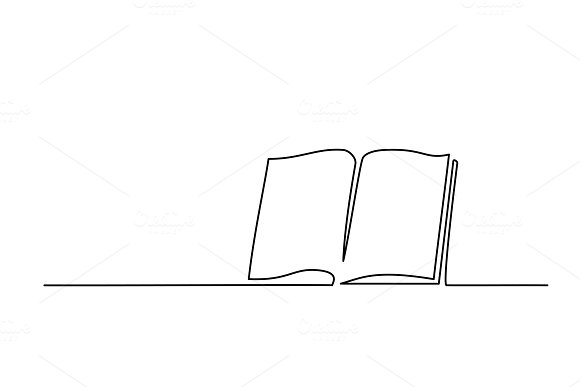 Opened Book With Pages Isolated On White