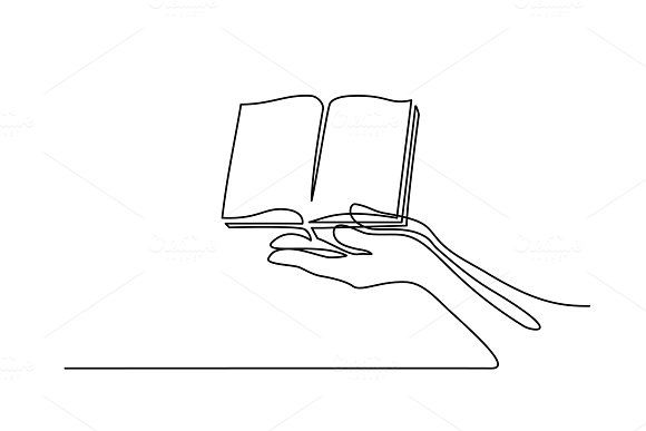 Hands Palms Together With Opened Book