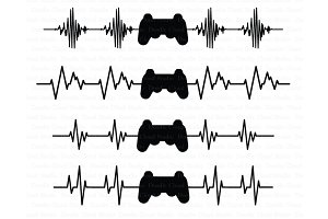 Heartbeat Game Controller SVG Files