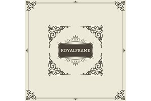 Vintage Ornament Greeting Card Vector Template. Retro Luxury Invitation, Royal Certificate. Flourishes frame. Vintage Background, Vintage Frame, Vintage Ornament, Ornaments Vector, Ornamental Frame