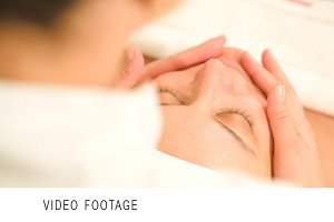 Facial procedure at beauty treatment