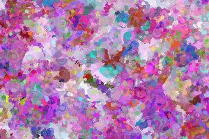 Confetti Flowers Digital Painting