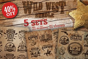 Bundle of vintage wild west sets