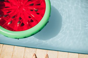 Inflatable watermelon floating