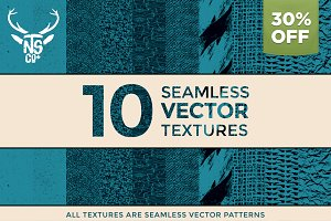 10 Seamless Vector Textures 30% OFF