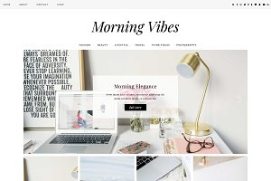 "WordPress Theme ""Morning Vibes"""