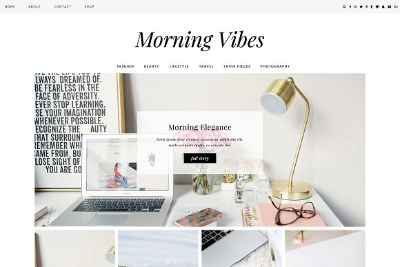 WordPress Theme Morning Vibes