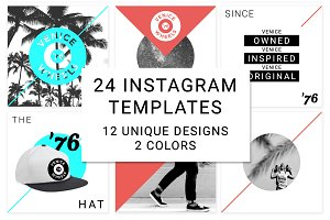 24 Instagram Clean Modern Templates