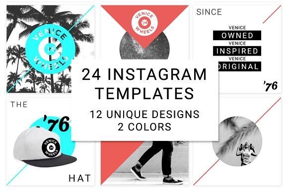 24 Instagram Clean Modern Templates