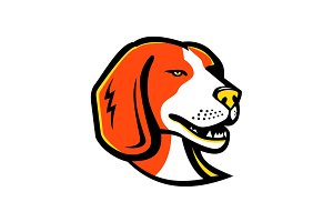 Beagle Hound Dog Mascot