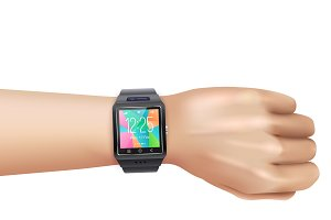 Smart watch on left hand