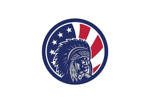 Native American Indian Chief USA Fla