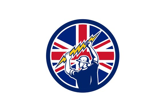 British Electrician Union Jack Flag