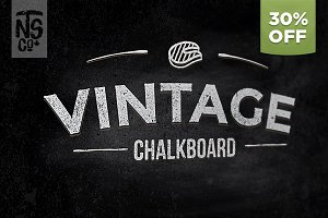 Vintage Vector Chalkboard Kit 30%OFF