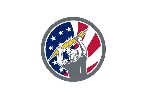 American Electrician USA Flag Icon