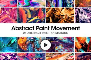 Abstract Paint Movement: 24 Videos