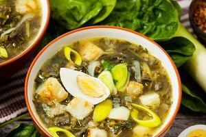 Spinach, Potato and Sorrel Soup
