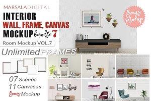Room Mockup Wall and Frame Bundle 7