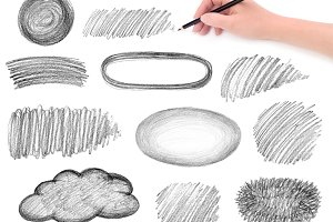 pencil scribbles design elements