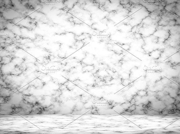 Empty Concrete Room Background Marble Modern Room For Display Your Product