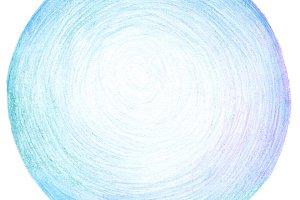 Abstract circle pencil texture.