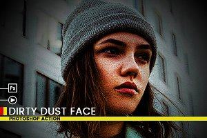 Dirty Dust Face Photoshop Action