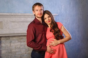Husband and pregnant wife