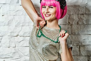 Fashionista with beads