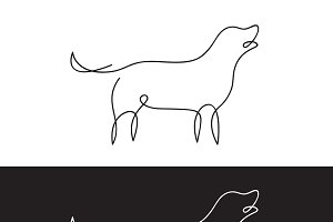 Vector of line design of dog. Pet.