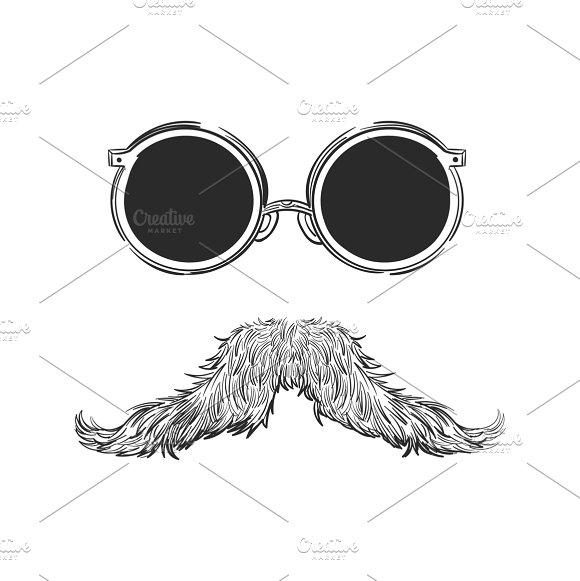 Drawing Of Hipster Style Concept