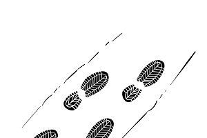 Illustration of footprint